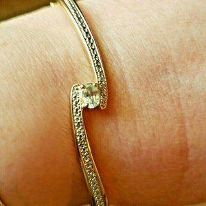 "Jewelry - Sterling Topaz Bracelet 7-1/2"""